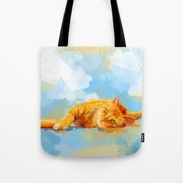 Cat Dream - orange tabby cat painting Tote Bag