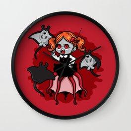 Vampire Baby Squid Wall Clock