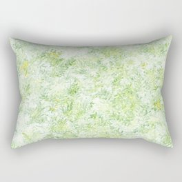 Green and Yellow Foliage Rectangular Pillow