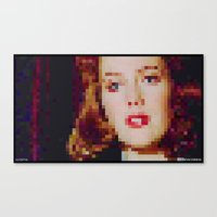 "scully Canvas Prints featuring SCULLY by ""Neverodd Inks"""