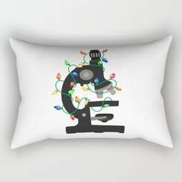 Christmas Microscope Rectangular Pillow