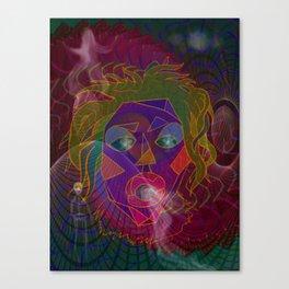 A Visit to the Shaman Mixed Media Canvas Print
