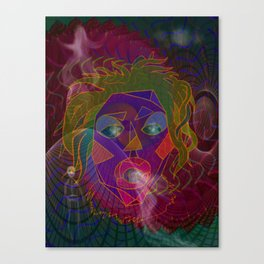 A Visit to the Shaman Mixed Media Canvas Print
