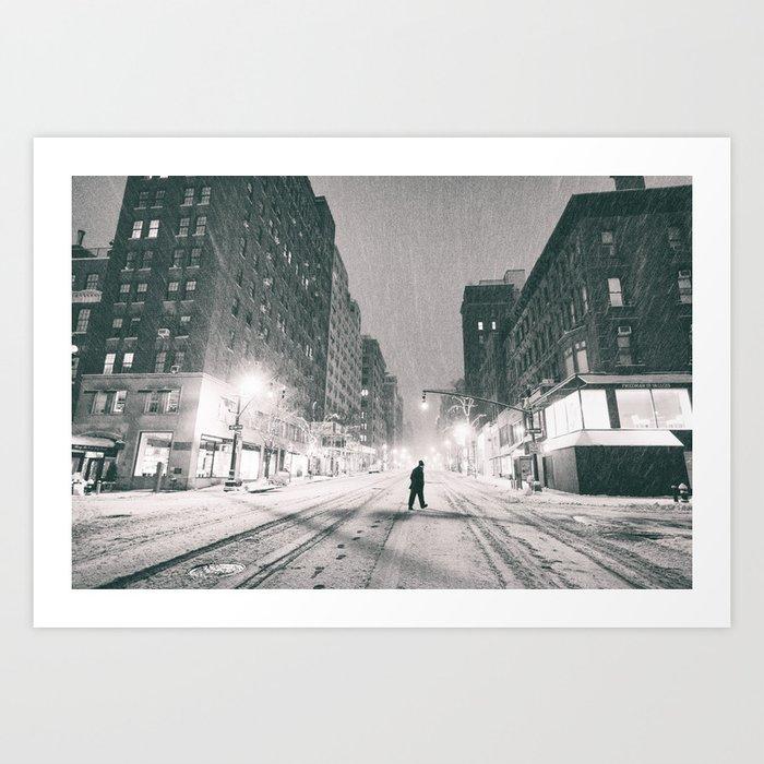 New York City - Snowstorm Art Print