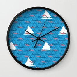 Boats and birds Wall Clock