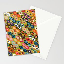 carnival ikat lime Stationery Cards