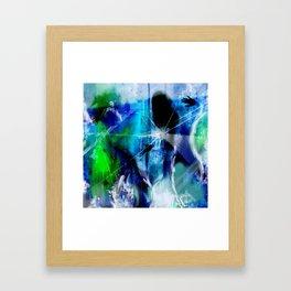 Behind broken glass Framed Art Print