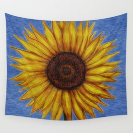 Sunflower by Lars Furtwaengler | Ink Pen | 2011 Wall Tapestry