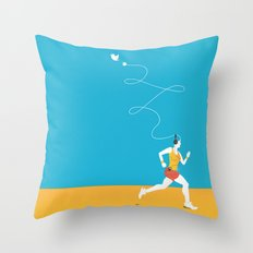 Plug yourself out Throw Pillow