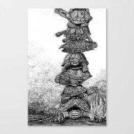 Mack the Turtle Canvas Print