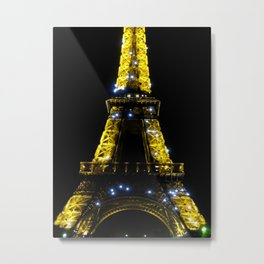 Eiffel Tower at Midnight Metal Print