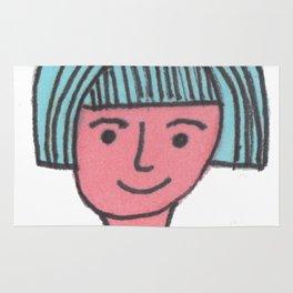 """""""Lola"""" The girl with blue hair Rug"""