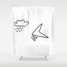 hang-glider aviation Shower Curtain