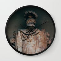 shield Wall Clocks featuring Shield by HMS James