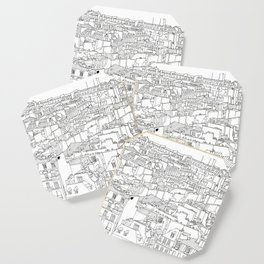 Rooftops of Paris, France _ Illustration _ Drawing _ Travel _ Rooftops Coaster