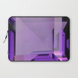 PURPLE FEBRUARY AMETHYST GEMS Laptop Sleeve