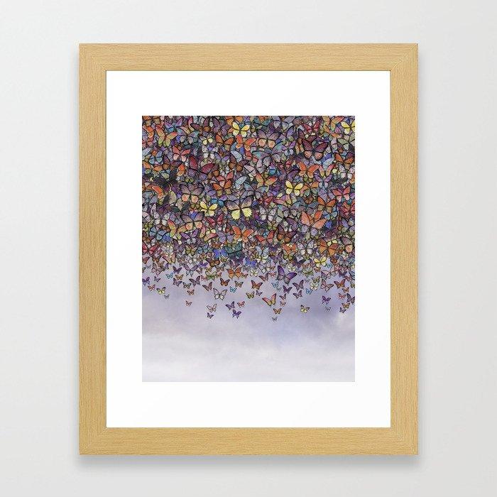butterfly cascade Framed Art Print