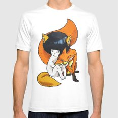 Fox Trot MEDIUM Mens Fitted Tee White