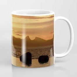 Rugged Island Sunset. Golden Paradise of Luxury Coffee Mug
