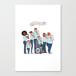 Intersectional Rosie the Riveter Canvas Print