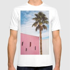 Palm Springs Vibes MEDIUM Mens Fitted Tee White