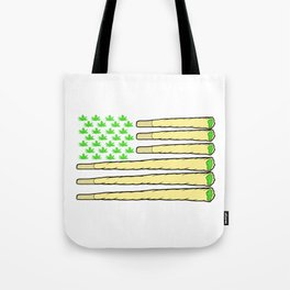 A Nice Cannabis Tee For High People American Flag Weed T-shirt Design Marijuana Medication Legalized Tote Bag