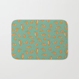 Orange Tabby Tiling Pattern Bath Mat