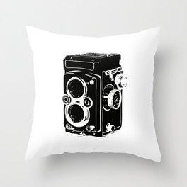 Analog power Throw Pillow