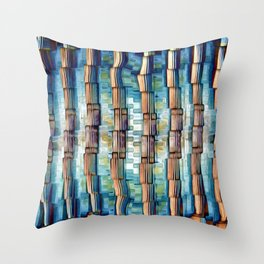 Abstract Architectural Pillars Throw Pillow