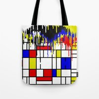 mondrian Tote Bags featuring MONDRIAN by DIVIDUS
