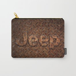 VINTAGE JEEP PATTERN LOGO INSPIRED Carry-All Pouch