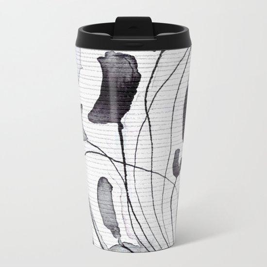 ink flowers Metal Travel Mug