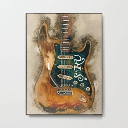 stevie ray vaughan's, electric guitar, gift for guitarists, guitar gift, blues music Metal Print