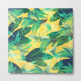 Tropical Leaves 2 Metal Print
