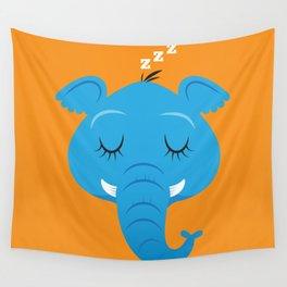 Sleepy Elephant Wall Tapestry