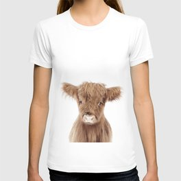 Baby Highland Cow Portrait T-shirt