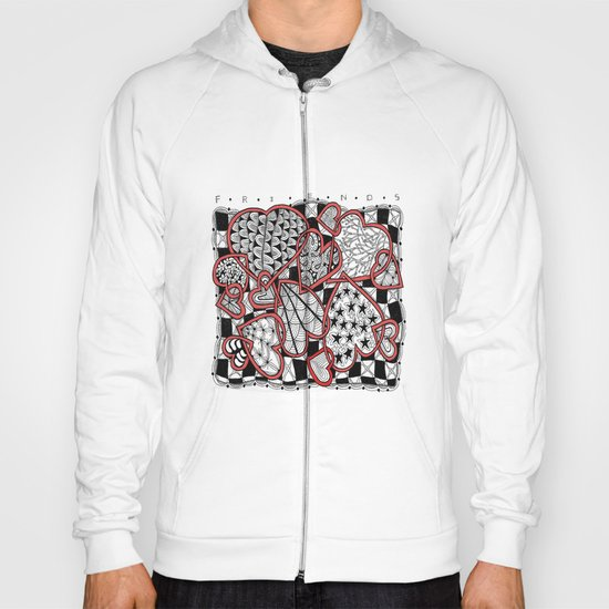 Zentangle Friendship Hearts Hoody