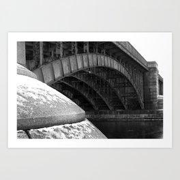 Longfellow Bridge in the Winter Art Print