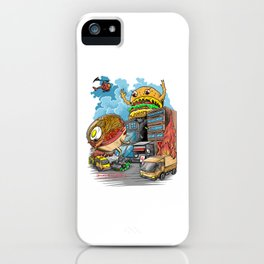 ramen vs hamburger iPhone Case