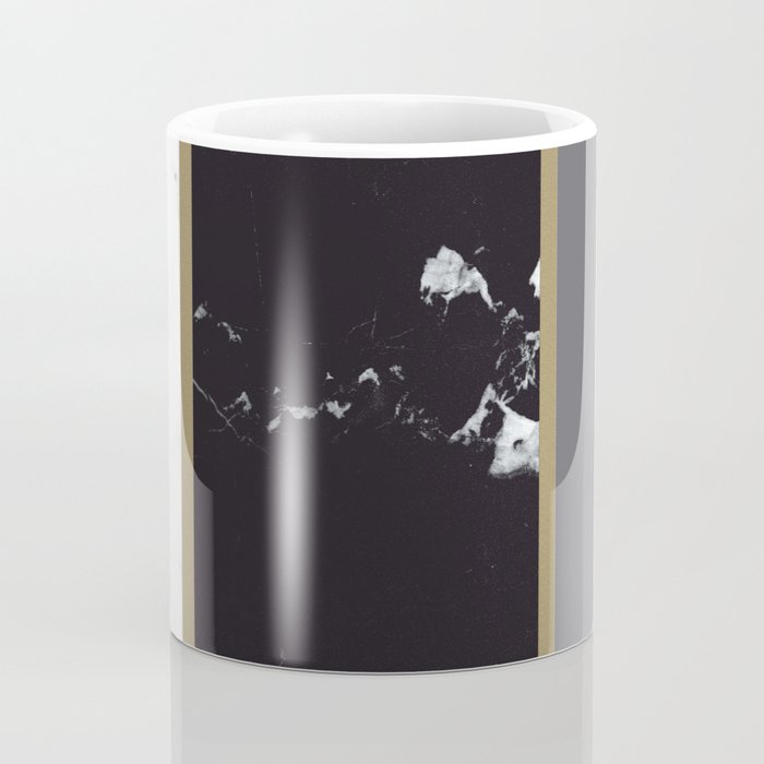 Marble Mix Stripes #1 #black #white #gray #gold #decor #art #society6 Coffee Mug