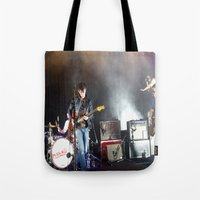 arctic monkeys Tote Bags featuring Arctic Monkeys in Brooklyn, New York by The Electric Blue / Yen-Hsiang Liang (Gr