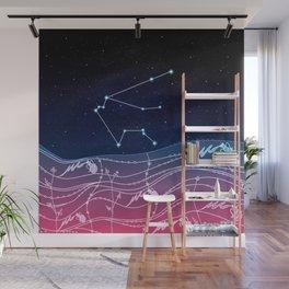 Aquarius Zodiac Constellation Design Wall Mural