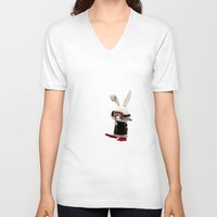 diver V-neck T-shirts featuring Diver by coffee & fried chicken