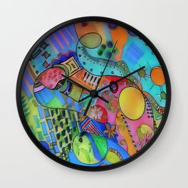 Doodle Double Wall Clock