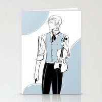 violin Stationery Cards featuring Violin by Cassandra Jean
