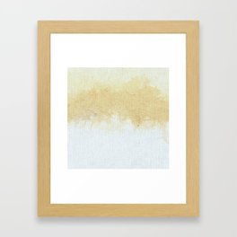 Textured Neutral white and Tan Abstract Framed Art Print