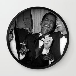 The Rat Pack - Frank Sinatra, Dean Martin, Sammy Davis Jr. Laughing Wall Clock
