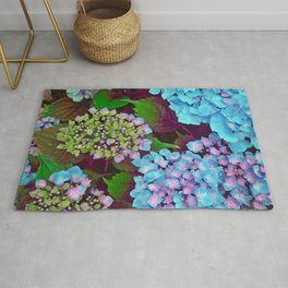 Hydrangea Pink and Blue Rug
