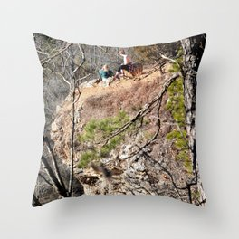 Climbing Up Sparrowhawk Mountain above the Illinois River, No. 4 of 8 Throw Pillow