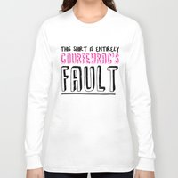 the fault Long Sleeve T-shirts featuring courfeyrac's fault by Gender Monster